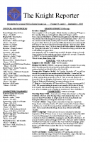 The Knight Reporter- 2008-09