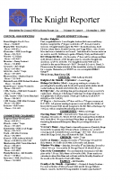 The Knight Reporter- 2008-11