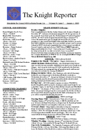The Knight Reporter- 2009-01