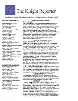 The Knight Reporter- 2009-02