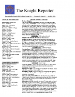 The Knight Reporter- 2009-04
