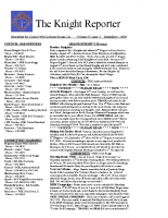 The Knight Reporter- 2009-09