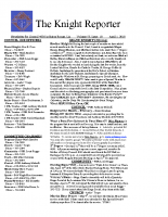 The Knight Reporter- 2010-04