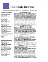 The Knight Reporter- 2010-11