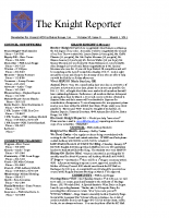 The Knight Reporter- 2011-03