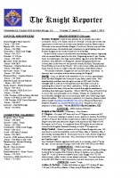 The Knight Reporter- 2012-04