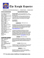 The Knight Reporter- 2014-10